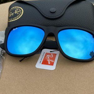 New RAY BAN RB 4165 622/55 Blue Mirror 54mm